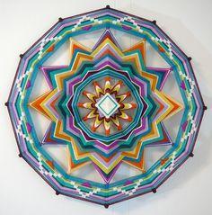 Sound of Silence, a 24 inch, 12-sided, Ojo de Dios Mandala
