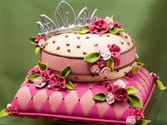 Bridal shower cake designs reflect the bride's individual qualities, interests and favourite colours. Check out these amazing designer bridal shower cake ideas. Gorgeous Cakes, Pretty Cakes, Cute Cakes, Amazing Cakes, Yummy Cakes, Amazing Art, Easy Kids Birthday Cakes, Happy Birthday, 16th Birthday