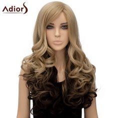16.44$  Buy here - http://di9mo.justgood.pw/go.php?t=179536801 - Women's Nobby Adiors Side Bang Long Curly High Temperature Fiber Wig