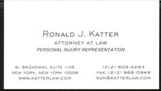 I wanted the card to be a mini billboard for my plaintiff's personal injury practice and also be elegant.   Self Designed.