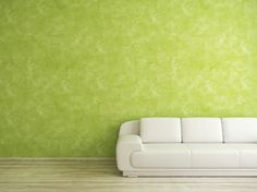 Green White Sofa Wall Color Design Wood Floor Clean Marble Effect