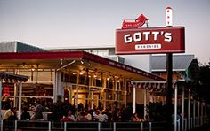 Gott's Roadside- Joel and Duncan Gott have changed the name of their burger-and-shake shack in St. Helena from Taylor's Automatic Refresher. The rare ahi tuna burger on a toasted egg bun remains the must-order–though a grilled Let's Be Frank hot dog topped with cheese and house-made chili comes in a very close second.