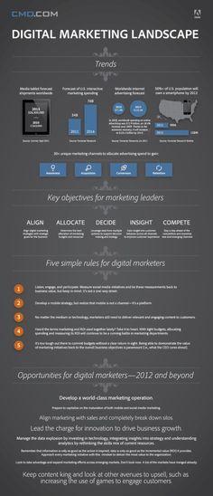 The Digital Marketing Landscape. #digitalmarketing #digital #marketing #infographic #digi #media #multimedia