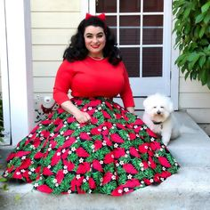❤️Sunday Afternoon w/ my Luna❤️ . 📸by my sweet hubby Outfit by . Curvy Outfits, Hot Outfits, Winter Outfits, Pin Up Style, Pin Up Girls, Pinup, Rockabilly, 1950s, Sunday