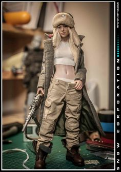 seven 3d Figures, Custom Action Figures, Anime Figures, Character Creation, Character Design, Cyberpunk, Fantasy Model, Military Figures, Post Apocalypse