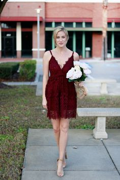 Wine Lace Dress | Valentine's Day | A Daydream Love
