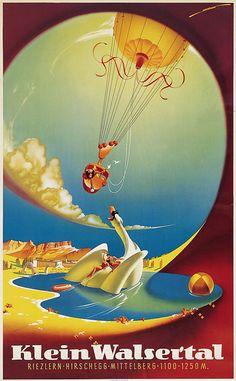 Klein Walsertal ~ Heinrich C. Ski Posters, All Poster, Vintage Ski, Vintage Travel Posters, Harry Potter Poster, Travel Ads, Graphic Illustration, Illustrations, Skiing