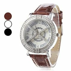 Tanboo Women's X Style PU Analog Quartz Wrist Watch (Assorted Colors) by Tanboo. $12.99. Women's Watche. Wrist Watches. Casual Watches. Gender:Women'sMovement:QuartzDisplay:AnalogStyle:Wrist WatchesType:Casual WatchesBand Material:PUBand Color:Brown, White, BlackCase Diameter Approx (cm):4.4Case Thickness Approx (cm):0.9Band Length Approx (cm):25Band Width Approx (cm):1.8