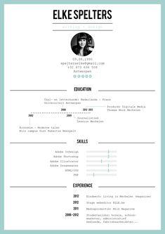 Resume by Elke Spelters, via Behance