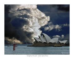 TWILIGHT OF THE GODS - Sydney Opera House -  (prints for sale). Sydney, Australia, World Heritage building, architecture, sky pictures, cloud pictures,