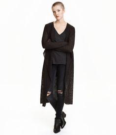 Harvaneuloksinen takki | Musta | Ladies | H&M FI