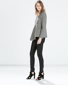 ZARA - WOMAN - COATED 5-POCKET JEANS. I love these so much with everything from a white t to a sweater, white blouse, etc etc