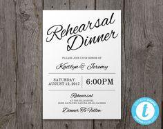 Printable Wedding Rehearsal Dinner Invitation by YouPrintEm
