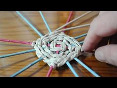 (parte 2 de 2) Base cuadrada trenzada - YouTube