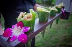 Rincon  Events exclusive caterer, www.jallisonwest.com, tropical calamari cones with basil, lime and sweet thai chili