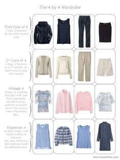 Denim, Stone, Pink and Soft Blue: 1 Piece at a Time;nice accent colors with navy and tan which could be taupe.