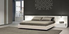 Colección F 10. Dormitorio Roble blanco y lacado brillo blanco