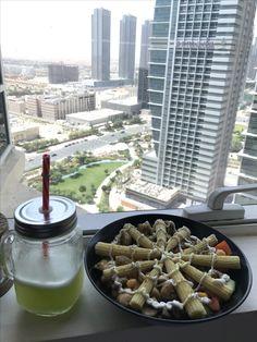 Nice food + nice view