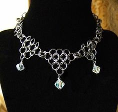 Game of Thrones Chainmail Necklace Crystal Steampunk Renaissance Cosplay SCA | eBay