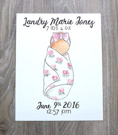 Custom Baby Watercolor by CamillesPaintShoppe on Etsy