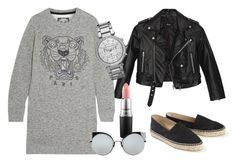 A fashion look from December 2016 featuring mini dress, leather moto jacket and black flats. Browse and shop related looks. Black Flats, Moto Jacket, Nasty Gal, Kenzo, Mac Cosmetics, Fashion Looks, Chanel, Michael Kors, Polyvore