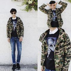 Jacket Zealotries, Sweater Choies, Shirt Zara, Jeans Cheap Monday, Shoes Hush Puppies