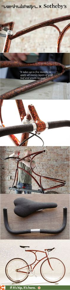 Limited edition luxury lacquered and gold leaf bikes by Vanhulsteijn for Sothebys. #urushiproject