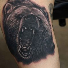 Tattoo angry bear  - http://tattootodesign.com/tattoo-angry-bear/  |  #Tattoo, #Tattooed, #Tattoos