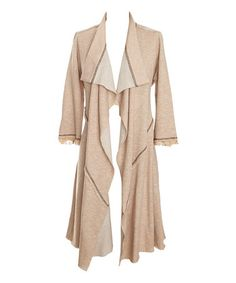Love this Natural Tie-Back Open Cardigan on #zulily! #zulilyfinds