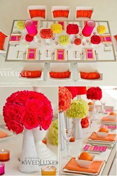 Jonathan Adler Wedding Shoot!    Love, love, love. Love the color scheme as well as the way he made the table look completely pulled-together/finished without over doing it/making the table look and feel cluttered.