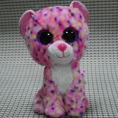 TY BEANIES BOOS ~Fancy pink Leopard 6
