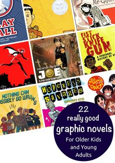 22+ Really Good Graphic Novels and Comics for Older Kids & Young Adults - a recommended reading list at Planet Jinxatron