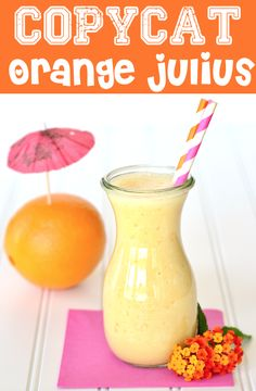 If you're not careful, your copycat might just be better than the real thing! Try this Copycat Orange Julius Recipe for yourself and decide if you ever need to buy another Orange Julius again! (smoothie recipes for kids orange) Juice Smoothie, Smoothie Drinks, Smoothie Recipes, Raspberry Smoothie, Yummy Smoothies, Easy Drink Recipes, Copycat Recipes, Cooking Recipes, Yummy Recipes