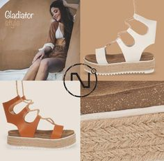 Gladiator style#handmade #leather #gladiators #madeingreece #nitrofashion Gladiators, Handmade Leather, Stuart Weitzman, Sandals, Heels, Summer, How To Make, Style, Fashion