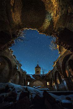 The Sunken Church, Mavrovo Lake, Macedonia