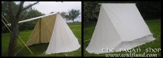 Ancient or Viking tent - double bell style