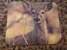 Dozens of designs in stock and ready to ship!  FREE shipping!  Deer Mouse Pad - Deer Being Watchful