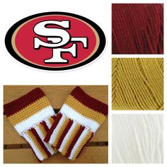Great birthday and holiday gift!    Super cute crochet boot cuffs to cheer on your favorite team!    The cuffs come in two sizes small/medium and