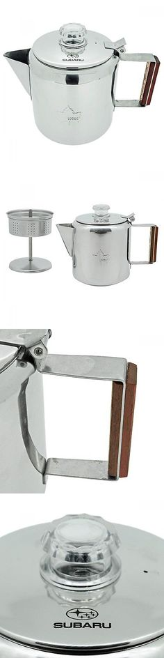 Camping Kettles 181384: Subaru X Logos Stainless Percolator Subaru Official -> BUY IT NOW ONLY: $128.97 on eBay!
