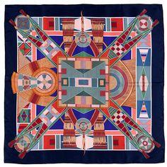 WOW Hermes Silk Scarf L Art Indien des Plaines by Sophie Koechlin. Carré  HermesFoulardVoyagesAutresDesign ... 5a89ad11965