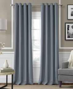 Oversized and richly hued, this substantial linen window panels is sure to make a dramatic impression in any room. Grommets make it easy to adjust panel to create the perfect lighting and drape. | Lin