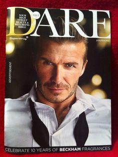 Dare magazine featuring David Beckham Celebrating 10 years of Beckham Fragrances