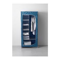 BREIM Wardrobe - blue - IKEA $59 install castors use as spray paint cupboard