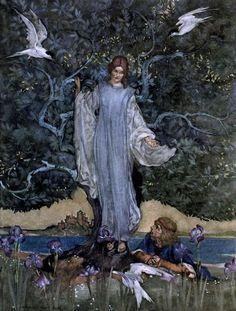"ARTIST/ILLUSTRATOR: William Russell Flint ~ ""Le morte d'Arthur"" (the book of…"
