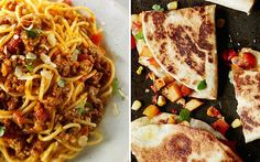 Spaghetti bolognese and vegetable quesadillas are great recipes for students