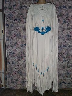 White wedding or Pow wow deer hide suede by GOLDENEAGLETRADING, $800.00