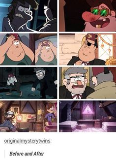 Gravity falls, before and after - NOOOO