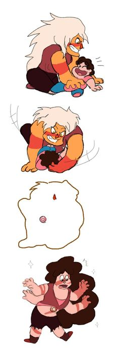 """Agate, from chapter 13 of """"Shattered Realities""""Steven and Jasper's relationship is incredibly rowdy and playful so the only thing I could think of was just the two rough hous..."""