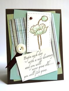 beautiful card with Stampin Up Simply Sketched stamps.