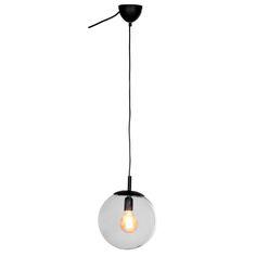 Moderne hanglamp Boann voorzien van helder glas in bolvorm. #hanglamp #kwantumstijl